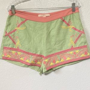 Champagne & Strawberry linen shorts